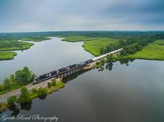 A cool morning on Chocowinity Bay (grady.mckinley) Tags: chocowinity north carolina bay norfolk southern river train bridge trestle pcs phosphate