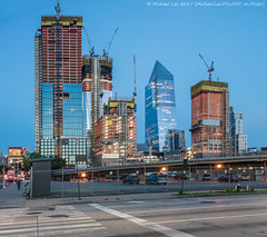 Hudson Yards (20170716-DSC07256-Edit-2) (Michael.Lee.Pics.NYC) Tags: newyork hudsonyards 12thavenue 34thstreet highline construction farwestside night twilight bluehour architecture cityscape cranes sony a7rm2 zeissloxia21mmf28