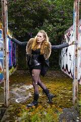 Samantha Ross-Russell (Waving lights in the dark) Tags: sheffield sheff sheffgraff urbex abandoned derelict model beauty apocalypse sonyzeiss