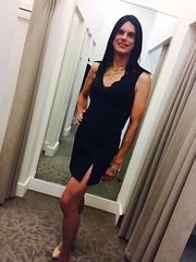 slit dress (Hannah McKnight) Tags: tgirl transgender transgirl model crossdress crossdresser stilettos
