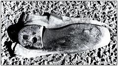 If the Shoe Fits... (Finepixtrix) Tags: shoe squashed road bw monochrome mono