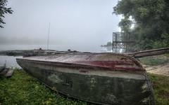 Keel Over (kud4ipad) Tags: 2016 boat morning fog mist landscape river dnieper prokhorovka ukraine