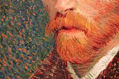 Selfie (derekbruff) Tags: artinstitute chicago vangogh beard impasto impressionist painting