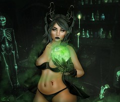I put a Spell on you (Pile up!) (Teuila Takara) Tags: pileup alltair shootthis shoot this studios photography secondlife sl secondlifephotography erotic spells potions witch witchcraft sorcery maleficent green darkness gothic demonic blood secondlifeart repaint retouch porcelain teuila