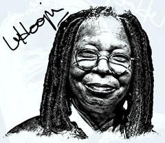 Whoopi Goldberg (Bob Smerecki) Tags: smackman snapnpiks robert bob smerecki sports art digital artwork paintings illustrations graphics oils pastels pencil sketchings drawings virtual painter 6 watercolors smart photo editor colorization akvis sketch drawing concept designs gmx photopainter 28 draw hollywood walk fame high contrast images movie stars signatures autographs portraits people celebrities vintage today metamorphasis 002 abstract melting canvas baseball cards picture collage jixipix fauvism infrared photography colors