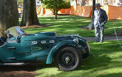 1953 Allard J2X (faasdant) Tags: 45th annual forest grove concours delegance 2017 pacific university campus classic car automobile show exhibition 1953 allard j2x roadster british racing green