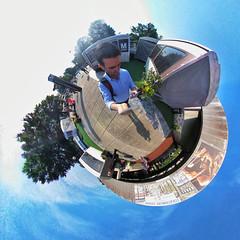 Tiny Planet of Grosvenor Strathmore Metro station in North Bethesda / Rockville Maryland (Matthew Straubmuller) Tags: grosvenor strathmore wmata subway transportation metro dc maryland md 360 planet tiny tinyplanet