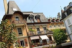 boulevard architecture (overthemoon) Tags: switzerland suisse schweiz svizzera romandie vaud lausanne boulevarddegrancy immeuble apartments balconies windows blinds slanting architecture