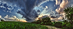 IMG_4677-88Ptzl1BbLCGER (ultravivid imaging) Tags: ultravividimaging ultra vivid imaging ultravivid colorful canon canon5dmk2 clouds fields farm sunsetclouds scenic rural vista evening twilight summer panoramic pennsylvania pa sunset stormclouds