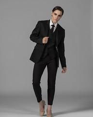 Megan Morken 4 (drno_manchuria (simonsaw)) Tags: meganmorken model fashion modelo moda suit traje trajeada suited suitup camisa shirt corbata gravata tie necktie krawatte cravata menswear knot nudo pants pantalones collar cuello mujer encorbatada jacket chaqueta masculina
