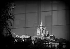 Tibidabo in bw (stempel*) Tags: espanya catalunya hiszpania katalonia barcelona tibidabo bw czb blackandwhite czarnobiałe glass szyba reflection pentax k30 50mm gambezia