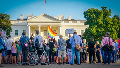 2017.07.26 Protest Trans Military Ban, White House, Washington DC USA 7637