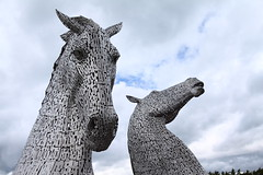 The Kelpies up close (D P Lynch) Tags: kelpies thekelpies falkirk scotland horses statue sculpture metal stainless steel canals locks parks