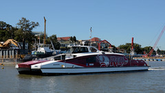 Brisbane CAT FERRY ~ Sports (Jungle Jack Movements (ferroequinologist)) Tags: reds rugby livery interbational tennis tournament commonwealth games gold coast 2018 lions afl football league yawagara mahreel beenung urpung mudherri union super catamaran boat ferry ship ferryboat commuter transport carry convey pass go fare travel tour commute shuttle tram river brisbane queensland qld australia australian queenslander city pier jetty cat carriage worker transportation passage vehicle move capital sport sporting team rep eagle street southbank sydney queue ticket swipe captain mate deck hand translink citycat broncos