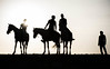 The nomad and the riders (Ch.Benabid.Photographies (fb/page)) Tags: horses riders nomad desert blackandwhite streetphotography silhouette