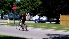 Enjoying the wonderful weather! (Maenette1) Tags: cycling enjoying sunshine street neighborhood menominee uppermichigan flicker365