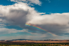 Rainbow (inlightful) Tags: sky clouds weather outdoors nature rural southwest socorrocounty rainbow newmexico monsoon storm