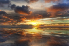 As Above, So Below (Nick Landells) Tags: sunset seascape clouds calm sea reflection reflections