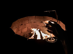 (~ cynthiak ~) Tags: 365 365days 3652017 2017 july july2017 selfportrait fire firepit wine glass 210365 img8166 iphone iphone7plus iphoneography