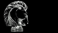 Horse (geraldineh.dutilly) Tags: horse light black white object art crystal