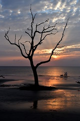 Sunrise on Jekyll Island (Jon Ariel) Tags: jekyllisland jekyll goldenisles georgia ga sunrise couple dog sea atlantic ocean