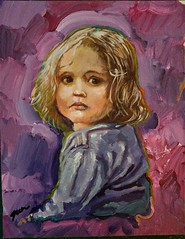 Girl portrait daily painting doodle (Howie Green) Tags: painting portrait child girl