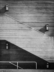 Definite (rgcxyz35) Tags: lines pattern blackwhitephotography blackandwhite nationaltheatre buildings southbank stairs steps london lambeth architecture concrete shadow uk bw