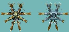 Flowly Gungust 3 (Folisk) Tags: lego moc ldd digital design ccbs hero factory bug roach oversized two headed top bottom view pov