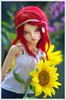 You're my sunflower -ADAW 31/52 (Nephtali_fleur) Tags: doll bjd fairyland minifee rheia miniféerheia mnfrheia