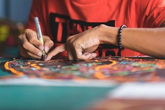 Traditional kite making (Syahrel Azha Hashim) Tags: craftmanship sony shallow holiday kelantan sculpture 2017 details crafts heritage ilce7m2 waubulan dof tradition a7ii art 35mm sonya7 oneperson handheld kotabahru colorimage vacation worker prime light kitemaking kite syahrel colorful getaway beautiful travel wau simple indoor colors artcraft malaysia naturallight traditional detail