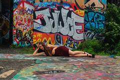 JUWCE (phillytrax) Tags: philadelphia philly pa pennsylvania cityofbrotherlylove 215 city urban usa america unitedstates metropolis metropolitan portrichmond graffitipier abandonedcoalpier graffiti streetart tagging vandalism urbex urbanexploration model layingdown
