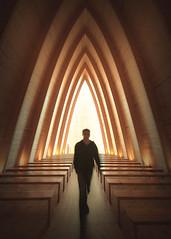 Portal 2 (Vesa Pihanurmi) Tags: architecture interior chapel artchapel arc turku finland figure character metaphysical portal teleporter conceptual monochrome blackandwhite sanaksenaho taidekappeli