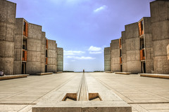 to infinity (kaimonster) Tags: perspective architecture salk salkinstitute lajolla outside nikon plaza