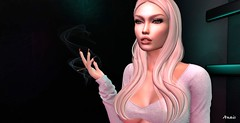 Lost in the smoke (AnaisCristole) Tags: secondlife sl gos addams bound portrait blond