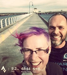 A breezy fresh run along the foreshore was a perfect way to reunite us after a year or so between drinks. Gone are the days of drinking and smoking on the beach in Sri Lanka. It was really great catching up with you good again @emmabummy !  #running #fitn
