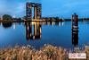 Tasmantoren Ventorama (Reina Smallenbroek) Tags: reinasmallenbroek tasmantoren groningen bluehour building gebouwen netherlands water canon nederland reflection reflectie w ventorama vertorama