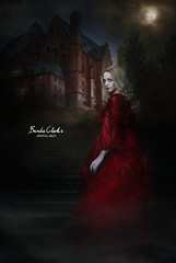 Athanasia - Immortal (~Brenda-Starr~) Tags: august2016 allrightsreserved athanasia vampire female woman beautiful haunted moon night house manor stairs birds gothic