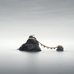 Meoto Iwa (Rohan Reilly Photography) Tags: haida long exposure colour minimal meotoiwa japan ise mie minimalism square