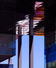 Office building (chrisk8800) Tags: building office architecture barcelona chrisk8800 columns mirrors windows grids lines geometry structure patterns composition