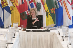 Premier/première ministre Notley, Chair of the Council of the Federation/présidente du Conseil de la fédération during the meeting/durant la rencontre