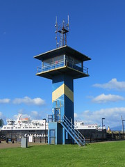 Ardrossan (alexliivet) Tags: ardrossan ayrshire scotland uk harbour tower observationtower controltower blue