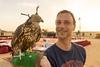 With Hawk (tesKing (Italy)) Tags: cristian dubai emiratiarabi io desert hawk sharjah emiratiarabiuniti