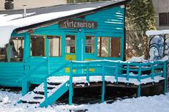 365-199 (Letua) Tags: color madera artesanias cabaña cabin wood aguamarina acquamarine nieve escalera escalones stairs fence baranda
