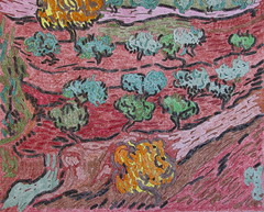 Oliviers sur la pente d'une colline - Van Gogh - 1889_0 (Luc II) Tags: vangogh oliviers