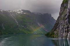 Geiranger Fjord Regenbogen (Lichtfänger76) Tags: geiranger fjord norwegen nikon d5100 regenbogen
