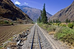 On the way to Machu Picchu (somabiswas) Tags: railway tracks machupicchu train landscape andes mountains nature saariysqualitypictures