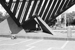 Monument (Tomer Hoffman) Tags: f2 tlv leica summicron fomapan100 m3 100 homeprocessing rodinal150 bw film 50mm urban street photography architecture