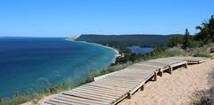 Empire Bluff Lookout (anneescott) Tags: lakemichigan sleepingbeardunes empirebluff blue water trail boardwalk lookout
