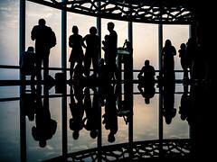 Waiting for the Sunset (Steve Wampler Photography) Tags: vacation travel dubai people silhouette burj khalifa sunset