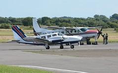G-BEHU (goweravig) Tags: gbehu piper seneca visiting aircraft swansea wales uk swanseaairport
